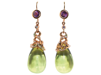 GREEN PEAR WITH VIOLET