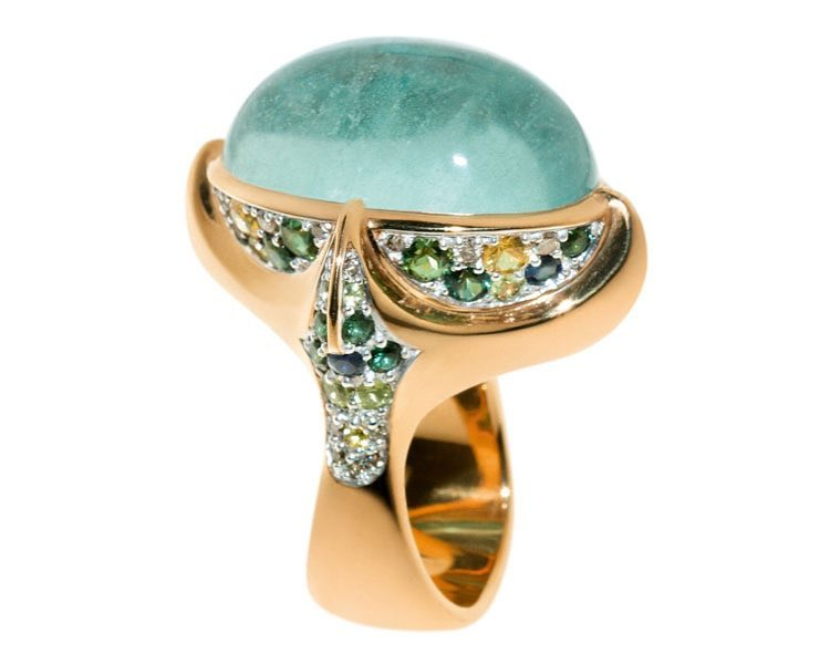 finejewelry ring gold gemstone aquamarine diamond blue green yellow sky ocean sea bubble wonder of nature atelier munich oneofakind handcrafted instajewelry instagood haveaniceday