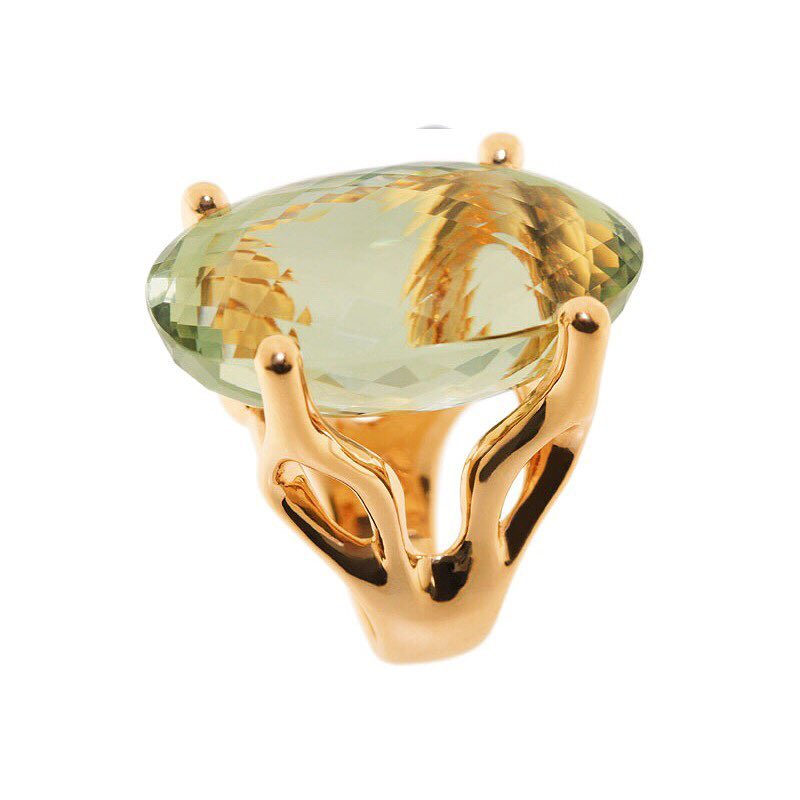 finejewelry ring gold rosegold prasiolite huge limegreen pale green statement elegant alien green lake sophisticated atelier munich  oneofakind instadaily instagood jewelery jewelryaddict instajewelry haveaniceday