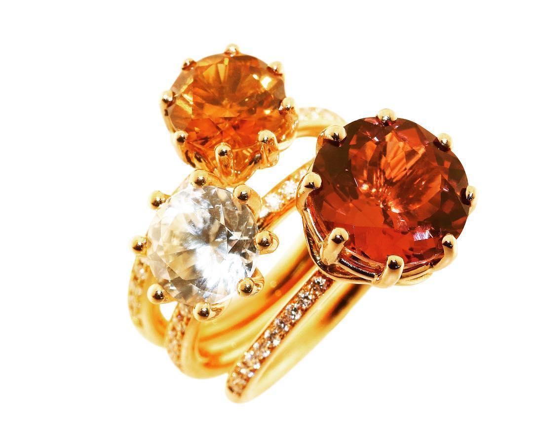 finejewelry ring gold diamond gemstone fresh bright colours like fire balloons atelier munich oneofakind handmade jewellery jewelryaddict instajewelry instagood haveaniceday