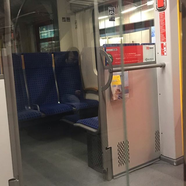 Crazy ghost in the suburban train munich refection through several corners and glass panels even ghosts are cellphone addicted haveaniceday picoftheday